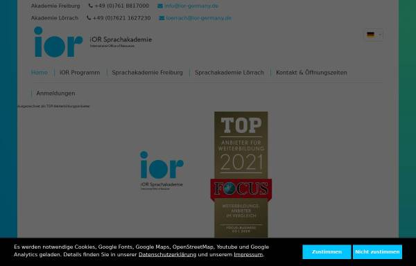 Vorschau von www.ior-sprachschule.com, Ior Sprachschule