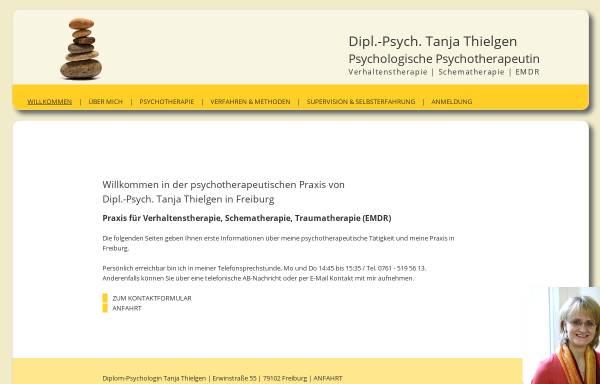 Vorschau von www.psychotherapie-thielgen.de, Dipl.-Psych. Tanja Thielgen