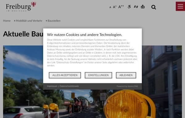 Vorschau von www.freiburg.de, Aktuelle Baustellen in Freiburg