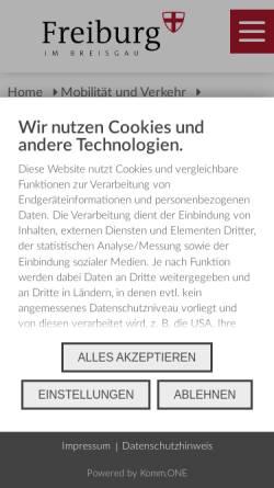Vorschau der mobilen Webseite www.freiburg.de, Aktuelle Baustellen in Freiburg