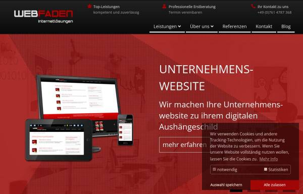Vorschau von www.webfaden.de, Internet Agentur Webfaden