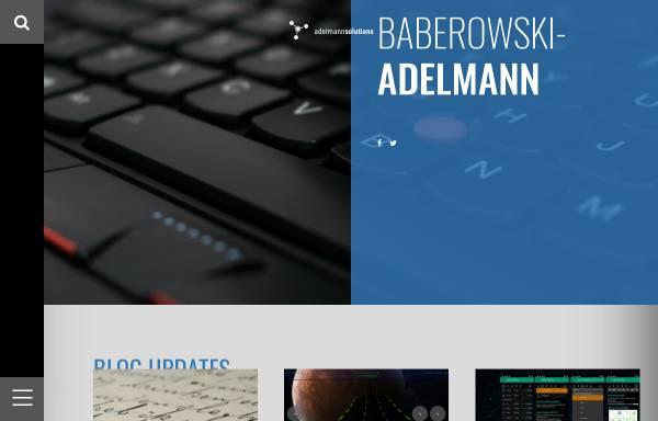Vorschau von adelmann-solutions.com, Adelmann-solutions, Andreas Adelmann