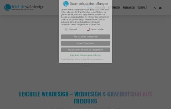 Vorschau von www.leichtle-webdesign.de, Leichtle Webdesign, Renate Leichtle