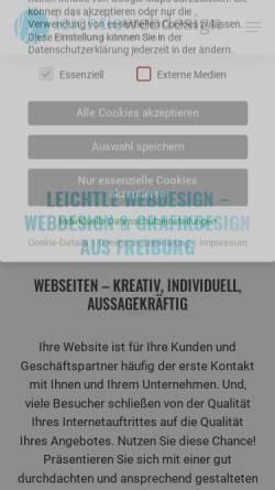 Vorschau der mobilen Webseite www.leichtle-webdesign.de, Leichtle Webdesign, Renate Leichtle
