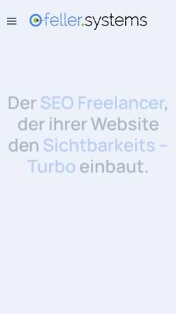 Vorschau der mobilen Webseite feller.systems, Carsten Feller