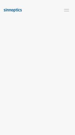 Vorschau der mobilen Webseite www.sinnoptics.de, Sinnoptics Bastian Bodemeyer, Myriam Eismann, Arndt Lau GbR