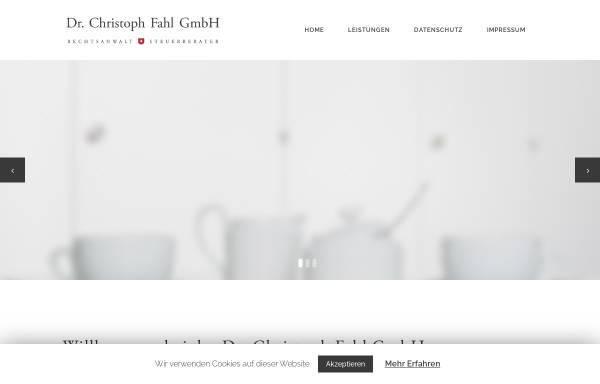 Vorschau von www.dr-fahl.de, Rechtsanwalt / Steuerberater Dr. Fahl