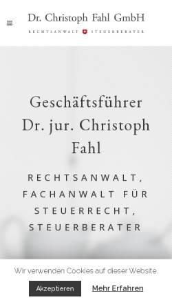 Vorschau der mobilen Webseite www.dr-fahl.de, Rechtsanwalt / Steuerberater Dr. Fahl