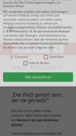 Vorschau der mobilen Webseite feinkost-zylinder.de, Sartori Matteo – Feinkost Zylinder e.K.