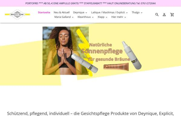 Vorschau von www.beautyteam-onlineshop.de, Beautyteam Freiburg, Katja Bitsch und Rolf Liebherr