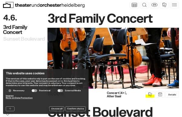 Vorschau von www.theaterheidelberg.de, Theater und Orchester