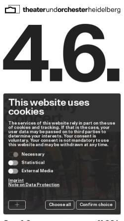 Vorschau der mobilen Webseite www.theaterheidelberg.de, Theater und Orchester