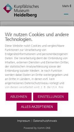 Vorschau der mobilen Webseite www.museum-heidelberg.de, Kurpfälzisches Museum