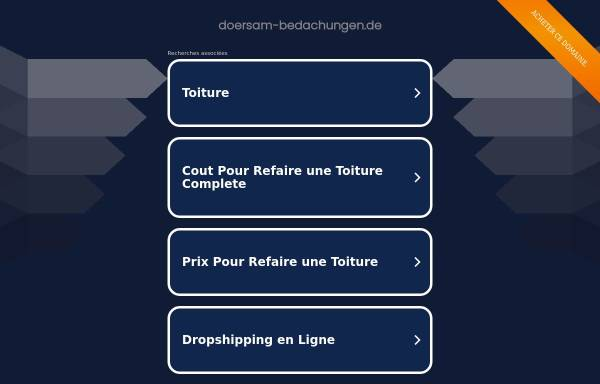 Vorschau von www.doersam-bedachungen.de, Dörsam Bedachungen