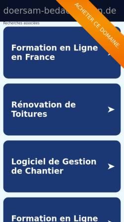 Vorschau der mobilen Webseite www.doersam-bedachungen.de, Dörsam Bedachungen