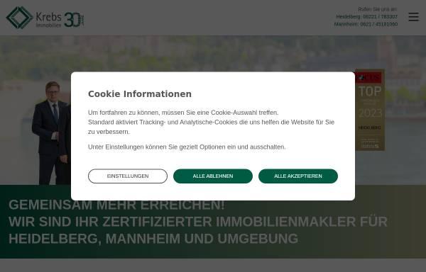 Vorschau von www.ihr-immobilienmakler-in-heidelberg.de, Immobilien Krebs