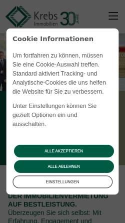 Vorschau der mobilen Webseite www.ihr-immobilienmakler-in-heidelberg.de, Immobilien Krebs