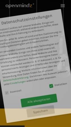 Vorschau der mobilen Webseite www.openmindz.de, Openmindz GmbH