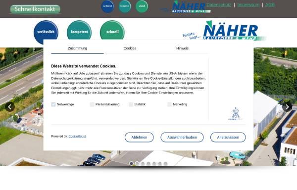 Vorschau von www.naeher-baustoffe.de, Näher Baustoffe GmbH