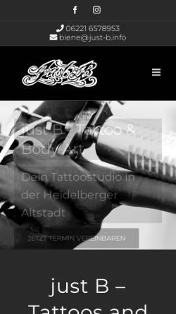 Vorschau der mobilen Webseite just-b.info, Sabine Hannak - Just B