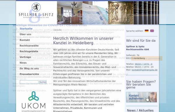 Vorschau von www.spillnerspitz.de, Spillner & Spitz Rechtsanwälte GbR