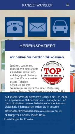 Vorschau der mobilen Webseite www.kanzlei-wangler.de, Kanzlei Wangler GmbH & Co. KG