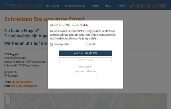 Vorschau von www.frey-imedien.de, frey | interaktive medien, Harald Frey