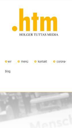 Vorschau der mobilen Webseite www.htm-karlsruhe.de, .htm - Holger Tuttas Media