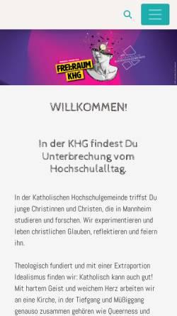 Vorschau der mobilen Webseite khg-mannheim.de, Katholische Hochschulgemeinde (KHG)
