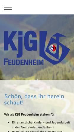 Vorschau der mobilen Webseite www.kjg-feudenheim.de, KjG Mannheim, Feudenheim