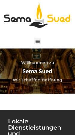 Vorschau der mobilen Webseite www.sema-sued.de, Seelsorgeeinheit Mannheim-Süd