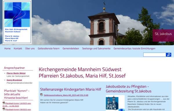Vorschau von www.kath-ma-suedwest.de, Gemeinde St. Josef