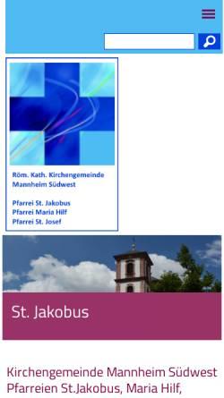 Vorschau der mobilen Webseite www.kath-ma-suedwest.de, Gemeinde St. Josef
