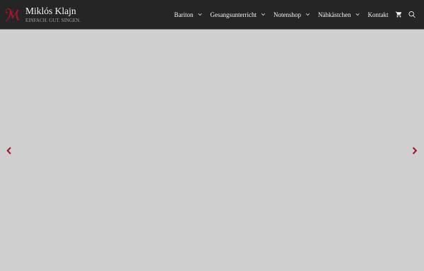 Vorschau von www.miklos-klajn.de, Miklós Klajn