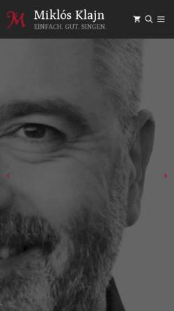 Vorschau der mobilen Webseite www.miklos-klajn.de, Miklós Klajn