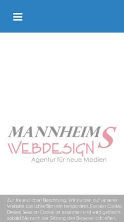 Vorschau der mobilen Webseite www.mannheims-web.de, Mannheims-Web, Klaus Imhof