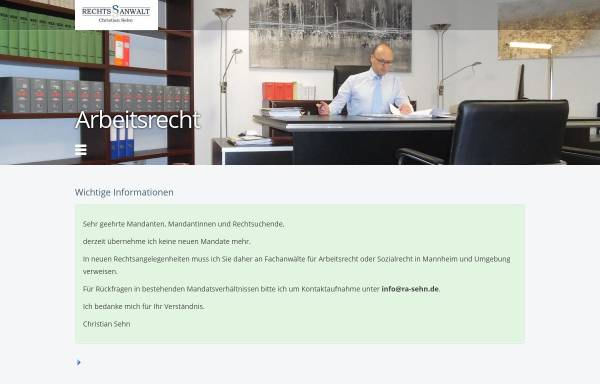 Vorschau von www.ra-sehn.de, Rechtsanwaltskanzlei Sehn