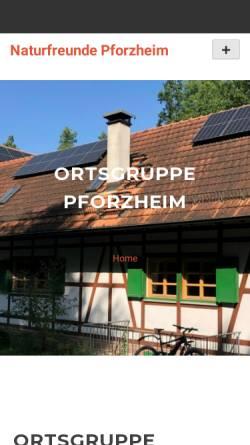 Vorschau der mobilen Webseite www.naturfreunde-pforzheim.de, Naturfreunde Ortsgruppe Pforzheim