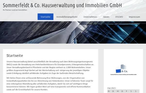 Vorschau von www.sommerfeldt-co.de, Sommerfeldt & Co. Hausverwaltung und Immobilien GmbH