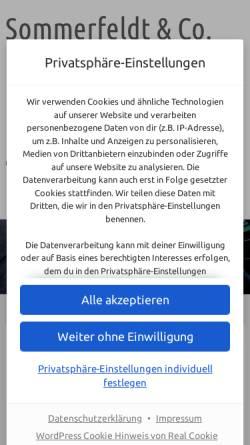 Vorschau der mobilen Webseite www.sommerfeldt-co.de, Sommerfeldt & Co. Hausverwaltung und Immobilien GmbH