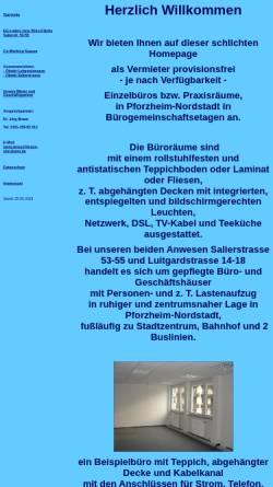 Vorschau der mobilen Webseite www.braun-pforzheim.de, Günther Braun GmbH & Co. KG