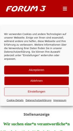 Vorschau der mobilen Webseite www.forum3.de, Forum 3