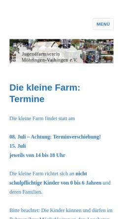 Vorschau der mobilen Webseite jufa.de, Jugendfarm Möhringen Vaihingen e. V.