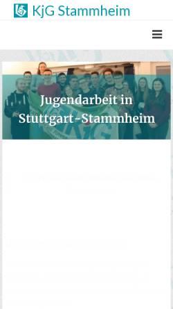 Vorschau der mobilen Webseite kjg-stammheim.com, Katholische Junge Gemeinde Stammheim (KJG)