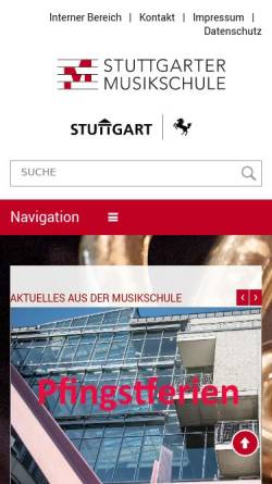 Vorschau der mobilen Webseite www.stuttgarter-musikschule.de, Jugendsinfonieorchester der Stuttgarter Musikschule