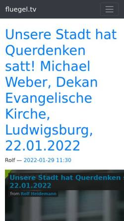Vorschau der mobilen Webseite fluegel.tv, Flügel TV