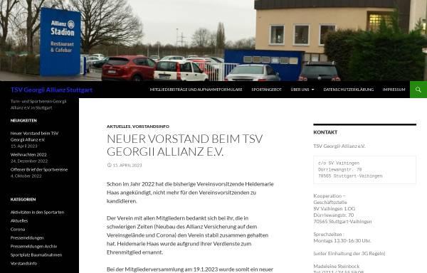 Vorschau von www.tsv-georgii-allianz.de, TSV Georgii-Allianz Stuttgart