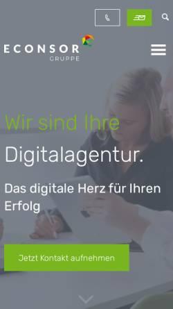Vorschau der mobilen Webseite www.econsor.de, econsor GmbH