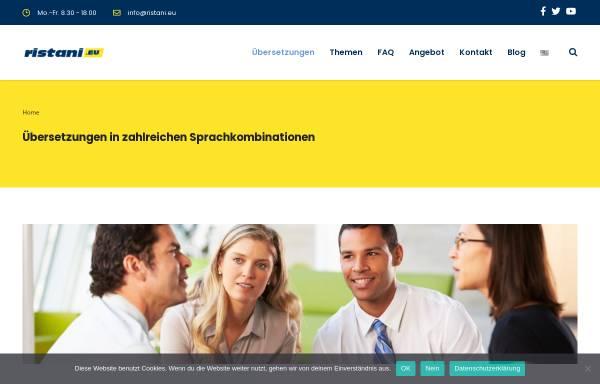 Vorschau von www.ristani.eu, Ristani Übersetzungen - Gregor Karosi