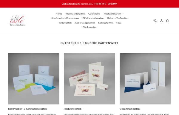 Vorschau von alacarte-karten.de, À la carte - Inh. Sylvia Elsäßer-Lacher